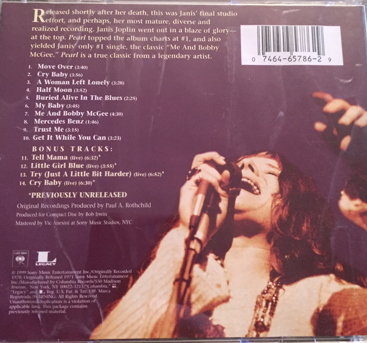 Janis Joplin Pearl The Vinyl Revivers