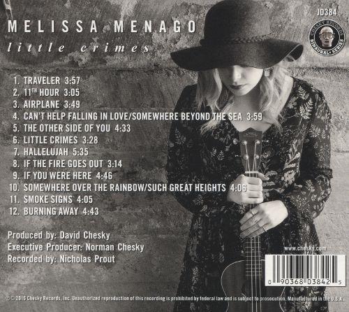 Melissa Menago - Little Crimes - Chesky Records